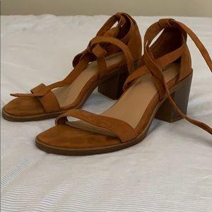 Merona Brown Suede Platform Heels